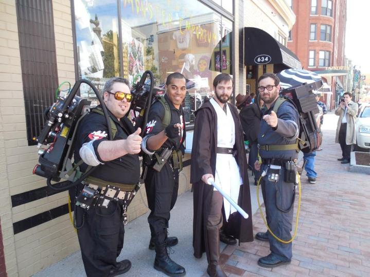 Me with the Maine Ghostbusters at Free Comic Book Day 2014