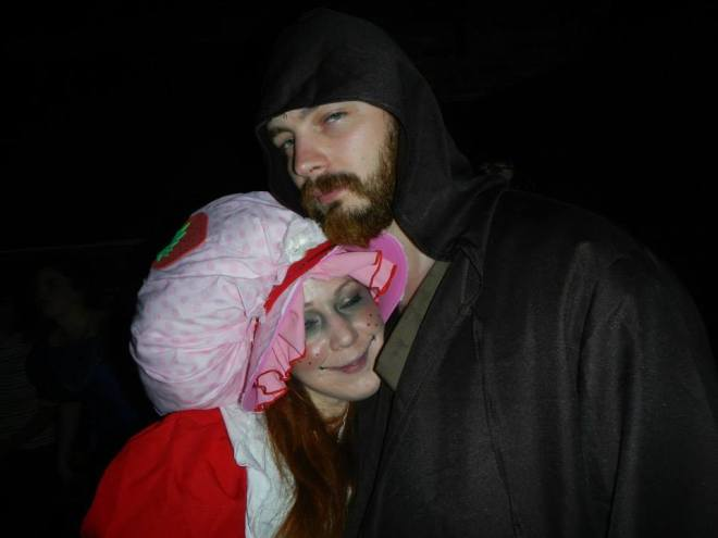 Me with my girlfriend, Strawberry Shortcake, in Portland Maine on Halloween 2013