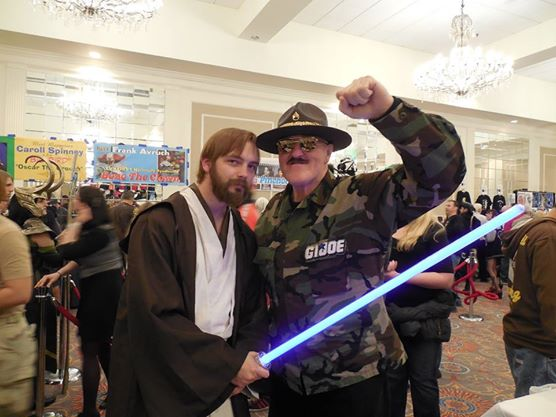 Me with Sargeant Slaughter at Super Megafest 2013
