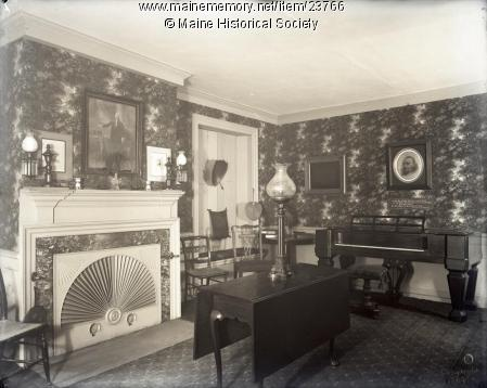 Parlor in the Wadsworth-Longfellow House. It looks much the same today