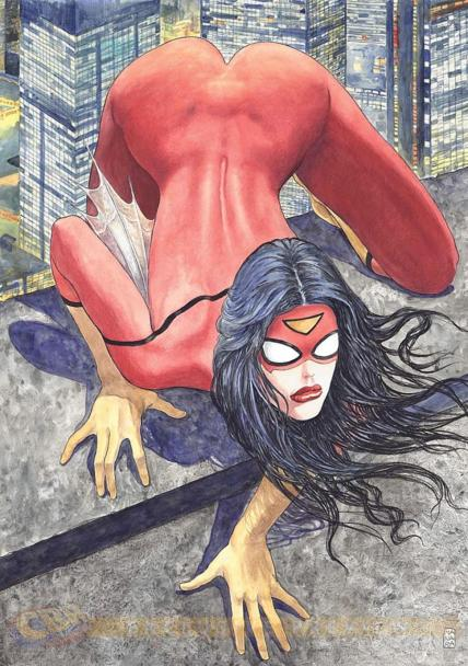Milo Manara's controversial cover to Spider-Woman #1