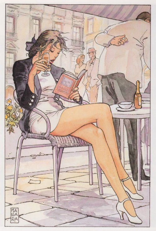 An example of Manara's Pin-Up style