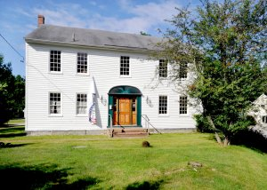 Hawthorne's boyhood home in Raymond, Maine. (Photo by Portland Press Herald)