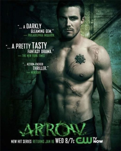 The entire marketing strategy for the show ARROW rests on this man's abs