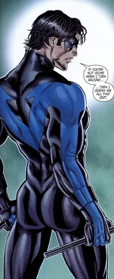 Nightwing's ass - by a woman artist - in a mainstream comic
