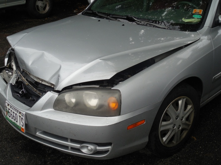 My totaled car.