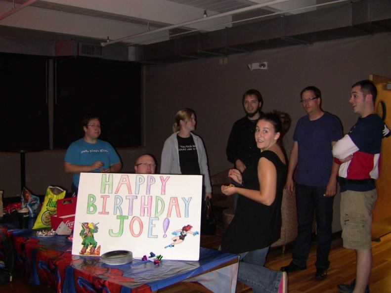 A birthday party that co-workers and friends made for me.