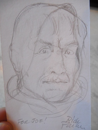A rough sketch Rick did for me of Old Obi-Wan.