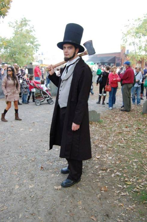 Me dressed as Abraham Lincoln in Salem, Massachusetts.