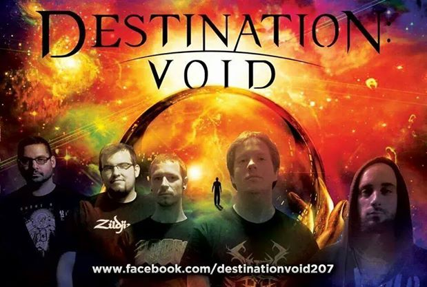 Lucas' Band - Destination: Void. (Awesome poster. He originally wanted me to enter something for them to consider for album art)