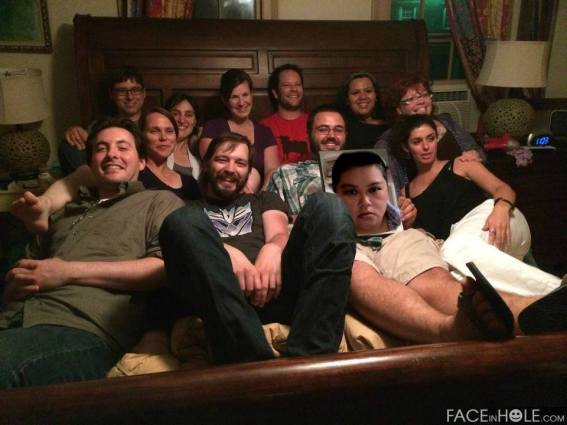 Richard with a bunch of our Stonecoast friends and classmates during our graduation residency.