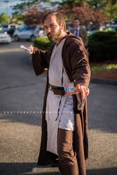 Cosplaying as Obi-Wan Kenobi from Star Wars: Episode III at PortCon 2014, South Portland, Maine. Photo by  Photographyaimee.com