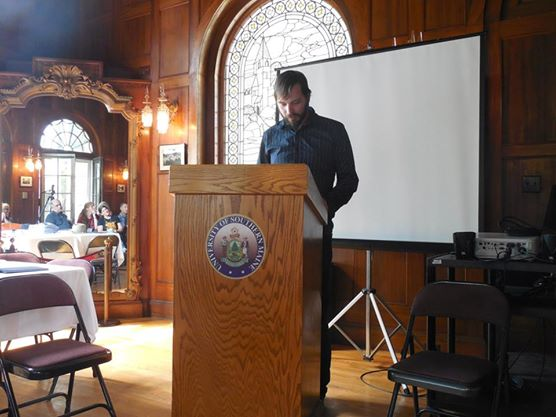 Me, doing my graduate reading in the summer of 2014 - inside the Stone House.