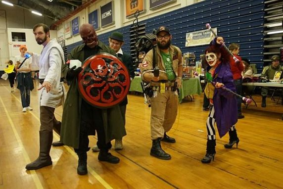 Me as Obi-Wan at the Portland Comic Expo. Joe is in back of my friend Matt Walsh (Red Skull).