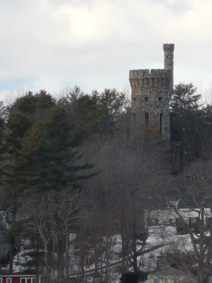"The ""Castle"" across from the Stone House."