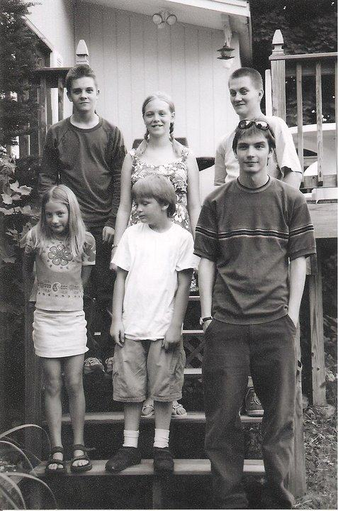 Clockwise from top left: Chad, my sister Monika, my brother Gary, Me, my brother Alex, my cousin Rose.