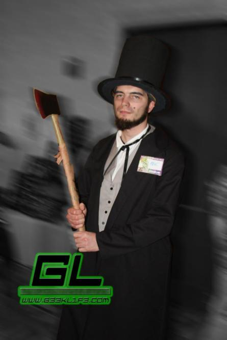 My Abraham Lincoln cosplay during Coast City Comicon 2012. Photo by G33k L1f3.