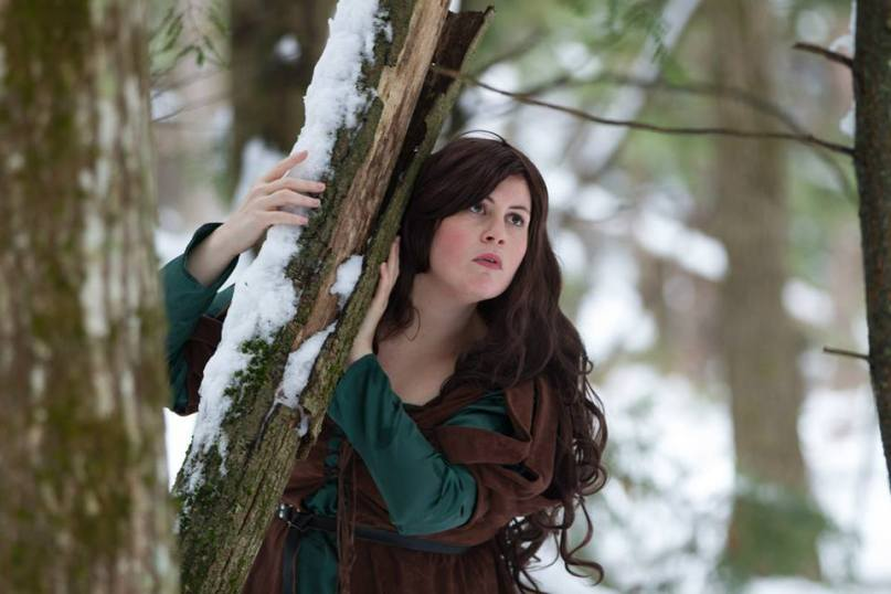 Cosplaying as Snow White (Snow White and the Huntsman). Photo by Lambent Imagery. Taken in the Maine woods.