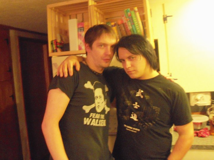 Heinz and I posing seductively for the camera during the party.