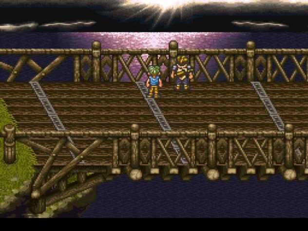 Look at the remnants of the sun dappling the water. Remember, this is 16-bit and done in 1995.