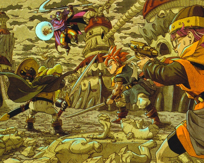 Frog, Crono, and Lucca face off against the dangerous Magus.