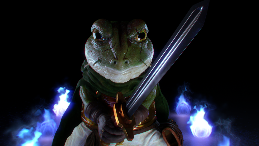 Frog fan art, inspired by the game Chrono Trigger.