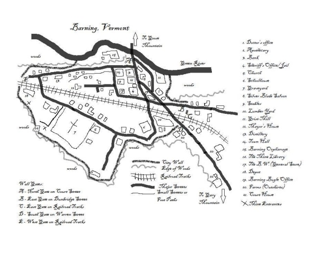 The fictional town of Barning, Vermont - as interpreted by Rebecca McKenna.