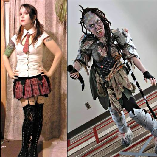 Amanda can toe the line between sexy and scary with ease. (Well, that make up takes a lot of work, I'd imagine. Look how cool it is!)