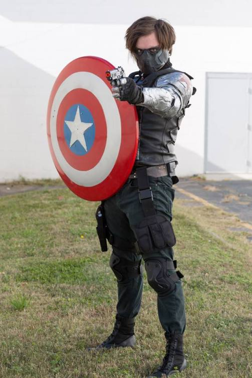 Steve cosplaying as Winter Soldier (Marvel Comics).