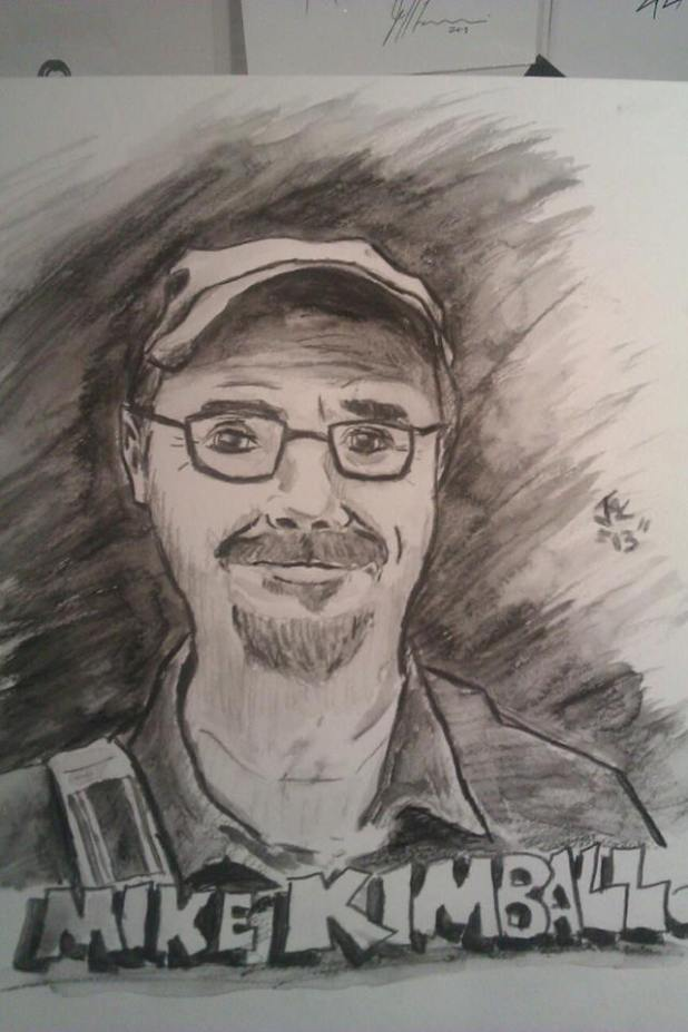 A charcoal pencil drawing I did of one of my writing mentors, Michael Kimball, as a gift.