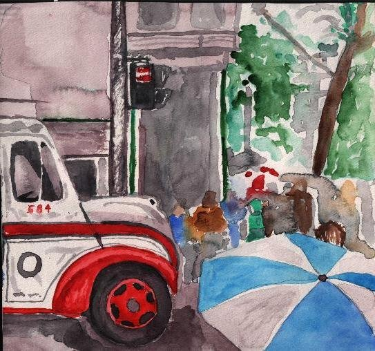 "A watercolor painting I did titled ""584"". I did it back in my undergrad days."