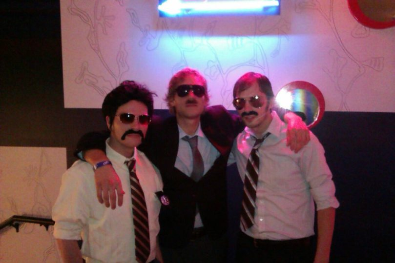 Me with a couple of my friends from work dressed as the Beastie Boys from Sabotage.