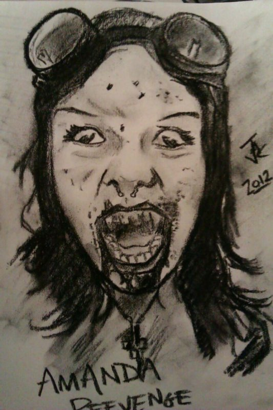A charcoal drawing I did of Amanda back in 2012 when I was doing my speed-drawing practice.