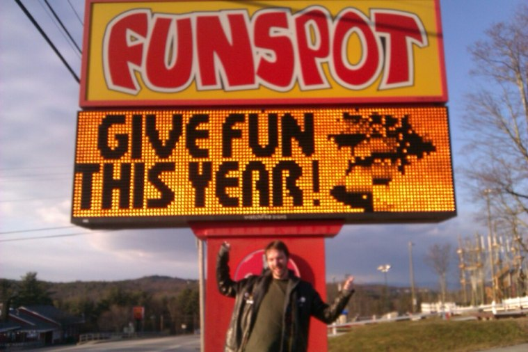 Me at Funspot in New Hampshire.