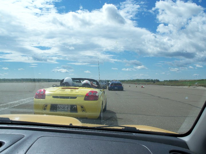 My POV from inside the car, on the track, at Loring Air Force Base.