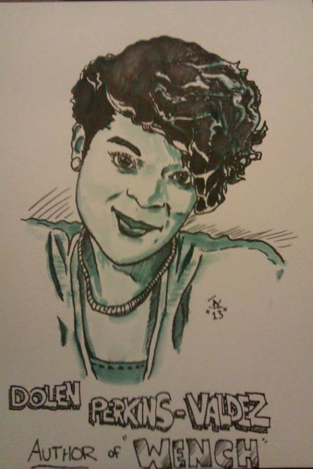 A marker wash I did as a gift for one of my writing mentors, Dolen Perkins-Valdez.