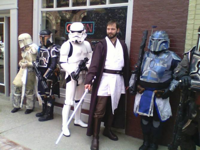 Me with some Mandalorians