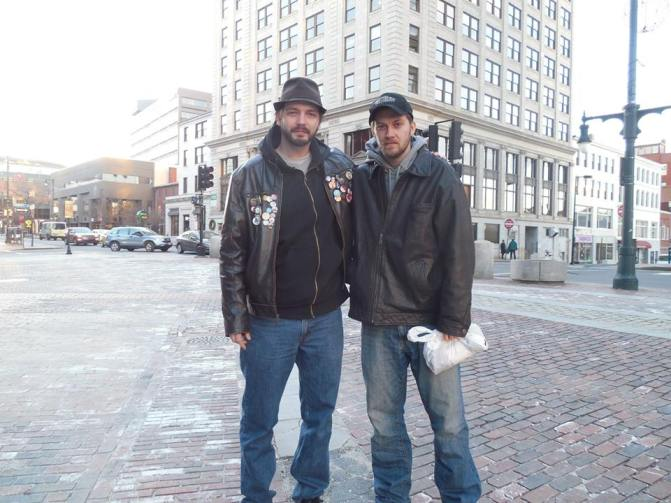 Gary and I in one of our most recent photos together, here in Portland, Maine with me. I was glad to see him for the day.
