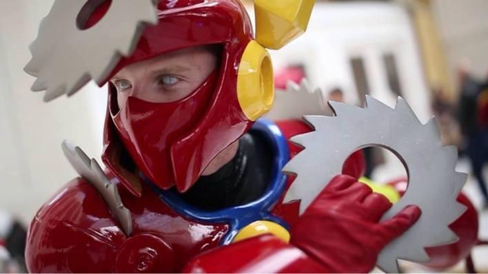 James Ryan Jwanowski as Metalman from the beloved Mega Man video game franchise.
