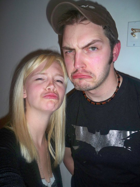 Me and my sister making goofy faces for the camera a few years back.