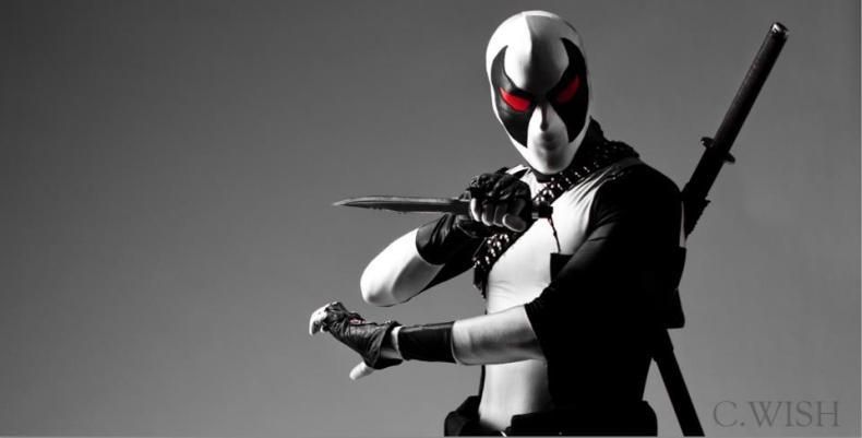 James Ryan Jwanowski as the X-Force version of Marvel's Deadpool.