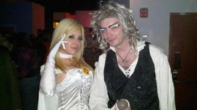Cosplayer Nicole Marie Jean (or, NMJ as she is now known as) and me at my first ever comic book convention.