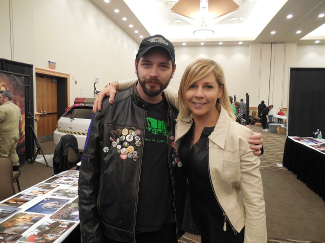 Me with Gigi Edgley from Farscape.