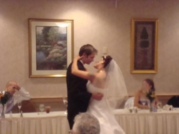 Our wedding dance.