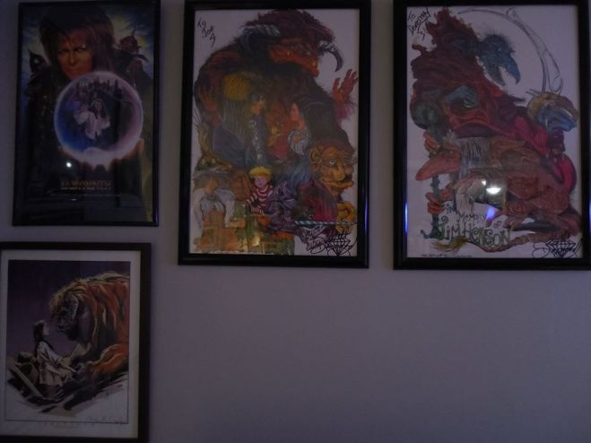 This is a wall containing some art prints by Bill Diamond, who worked with Henson on Dark Crystal and Labyrinth. My girlfriend and I met him at Super Megafest 2015.