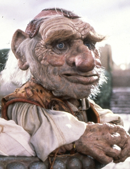 Hoggle - the cowardly dwarf. He was a very complex puppet/costume/animatronic hybrid.