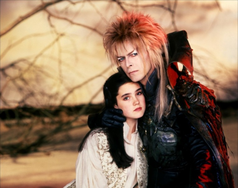 Sarah and Jareth in a promotional photo for the movie.