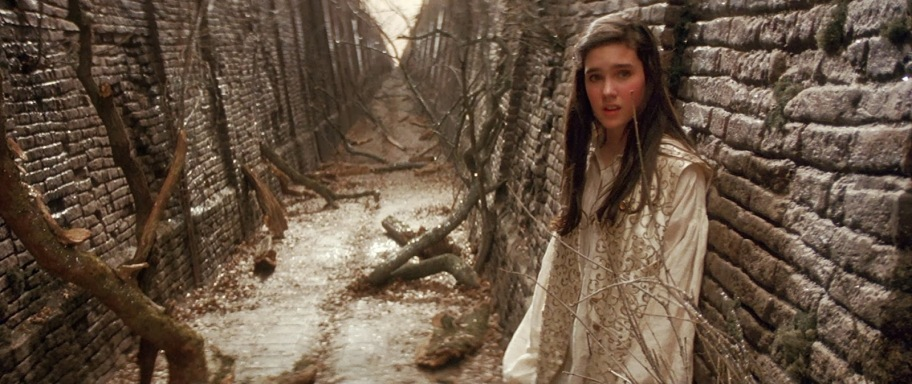 Actress Jennifer Connelly in her role as Sarah Williams from Labyrinth.