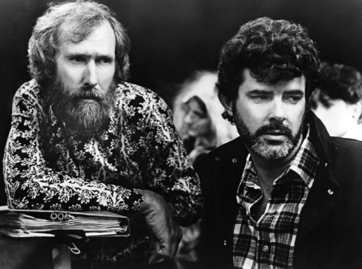 Jim Henson working alongside George Lucas on Labyrinth.