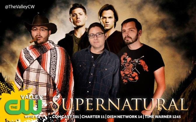 From left to right: Shane Collins, Dean Winchester, Frank Ard, Sam Winchester, me.